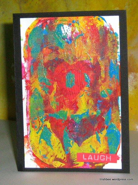 Gel Prints Handmade Greetings Cards Trish Bee S Art Venture